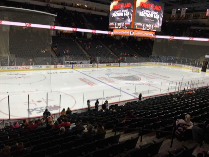 Seating view for PPL Center Section 118 Row 20 Seat 7