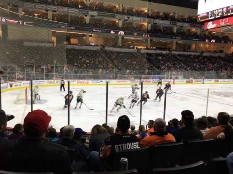 Seating view for PPL Center Section 107 Row 9 Seat 7