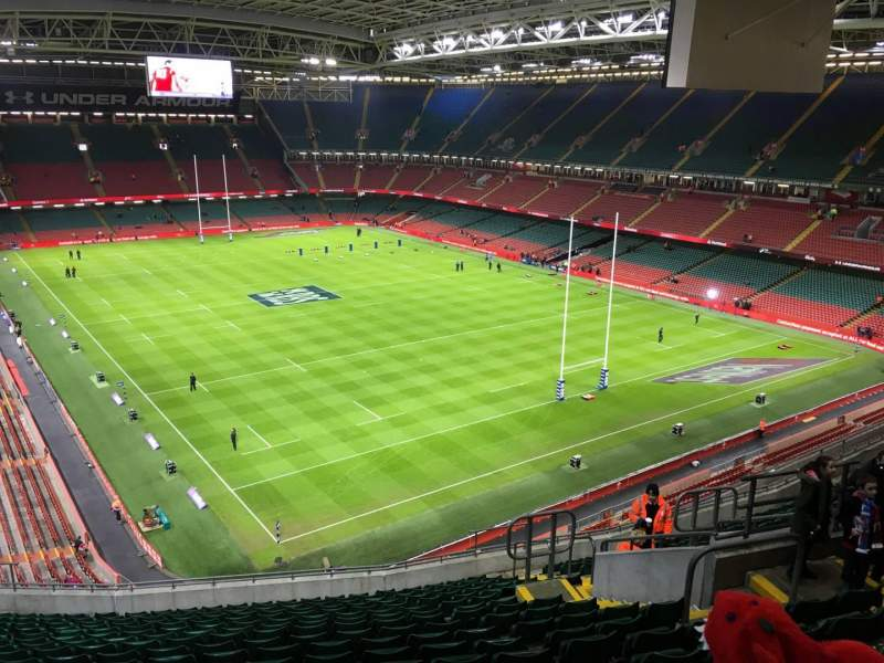 Seating view for Principality Stadium Section U23 Row 18 Seat 19