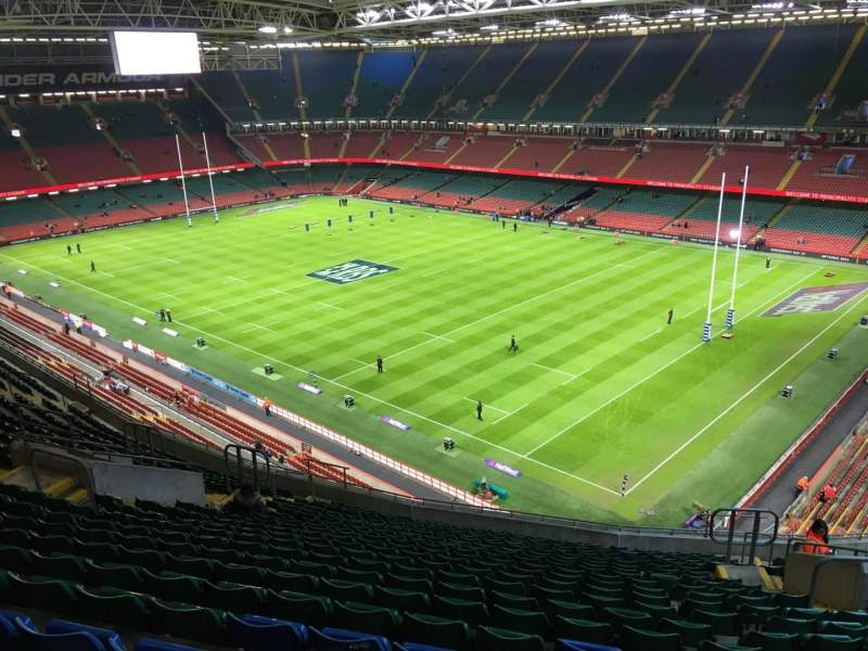 Seating view for Principality Stadium Section U25 Row 21 Seat 22