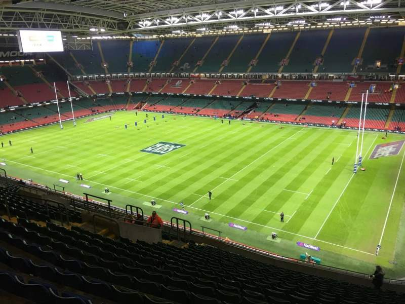 Seating view for Principality Stadium Section U26 Row 20 Seat 20