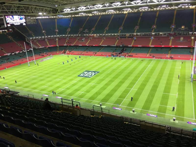 Seating view for Principality Stadium Section U27 Row 24 Seat 18