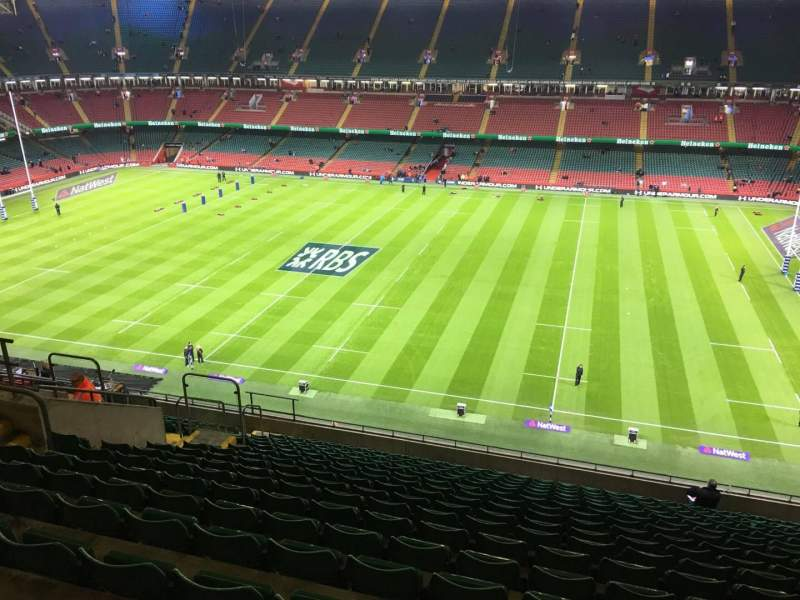 Seating view for Principality Stadium Section U28 Row 18 Seat 15