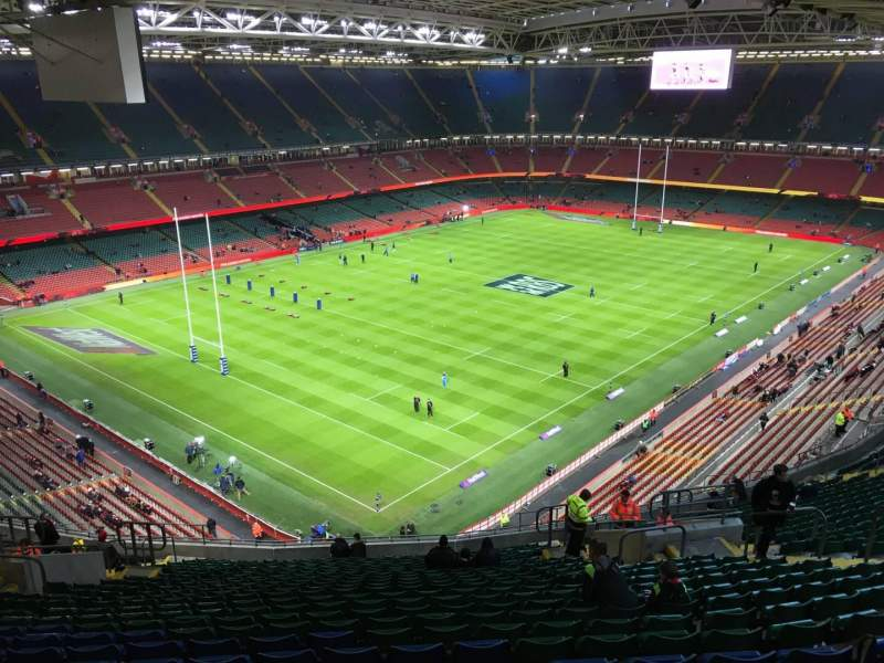 Seating view for Principality Stadium Section U36 Row 25 Seat 20