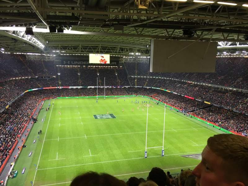 Seating view for Principality Stadium Section U21 Row 26 Seat 5