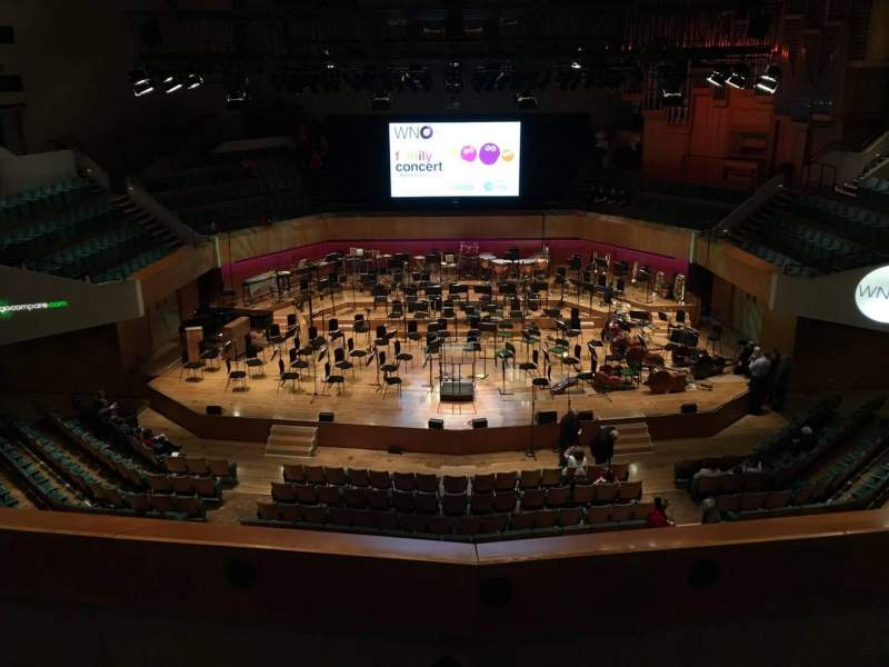 Seating view for St David's Hall Section Tier 11 Row C Seat 28