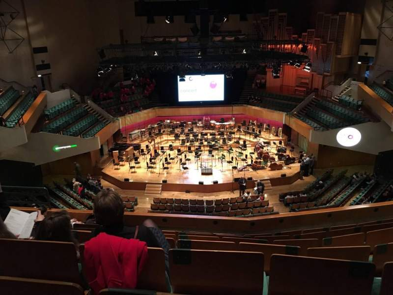 Seating view for St David's Hall Section Tier 11 Row G Seat 30
