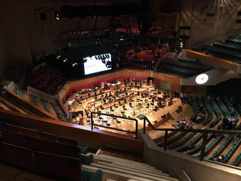 Seating view for St David's Hall Section Tier 13 Row E Seat 1