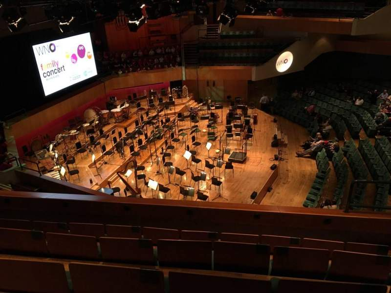 Seating view for St David's Hall Section Tier 3 Row E Seat 7