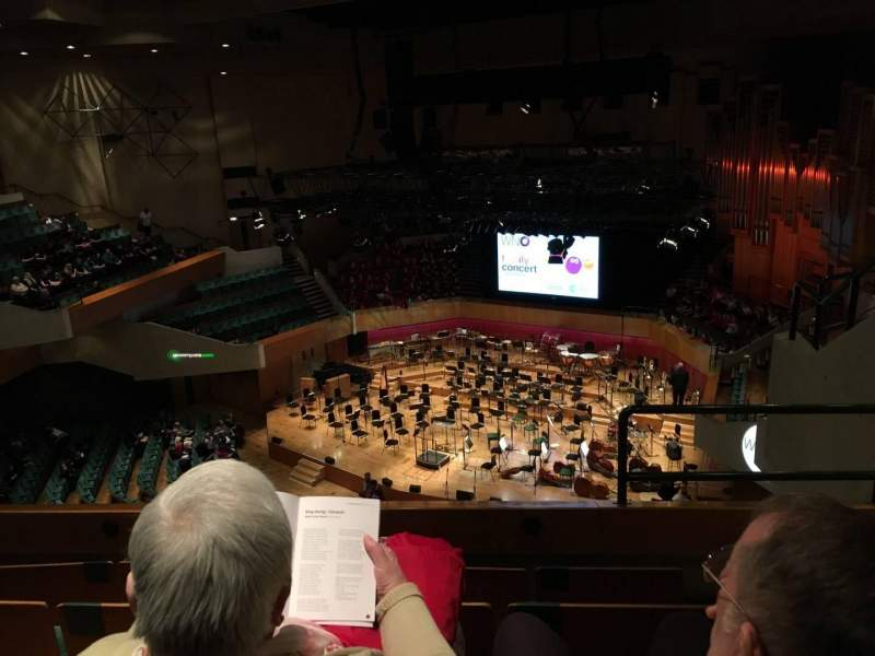 Seating view for St David's Hall Section Tier10 Row D Seat 1