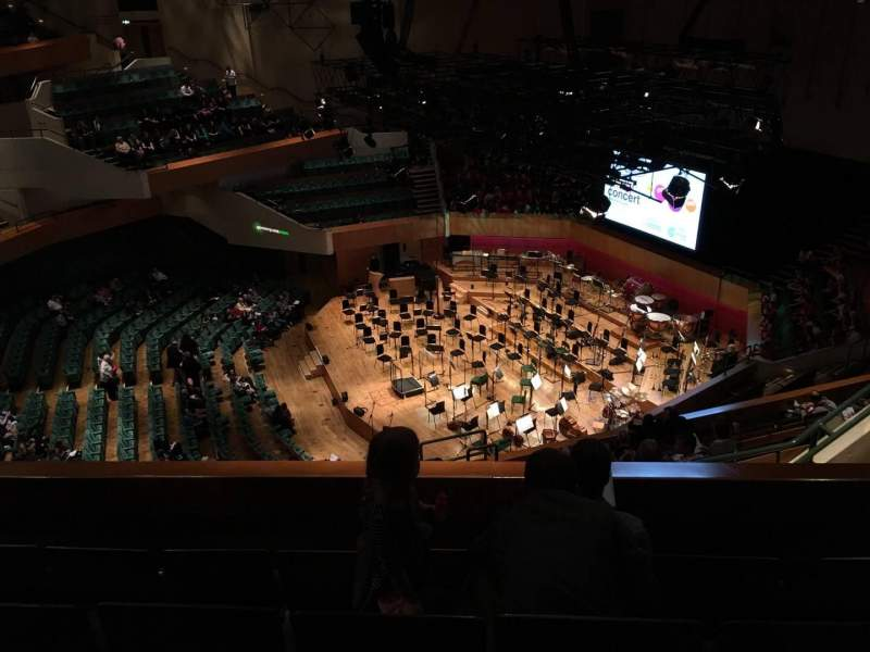 Seating view for St David's Hall Section Tier 9 Row D Seat 1