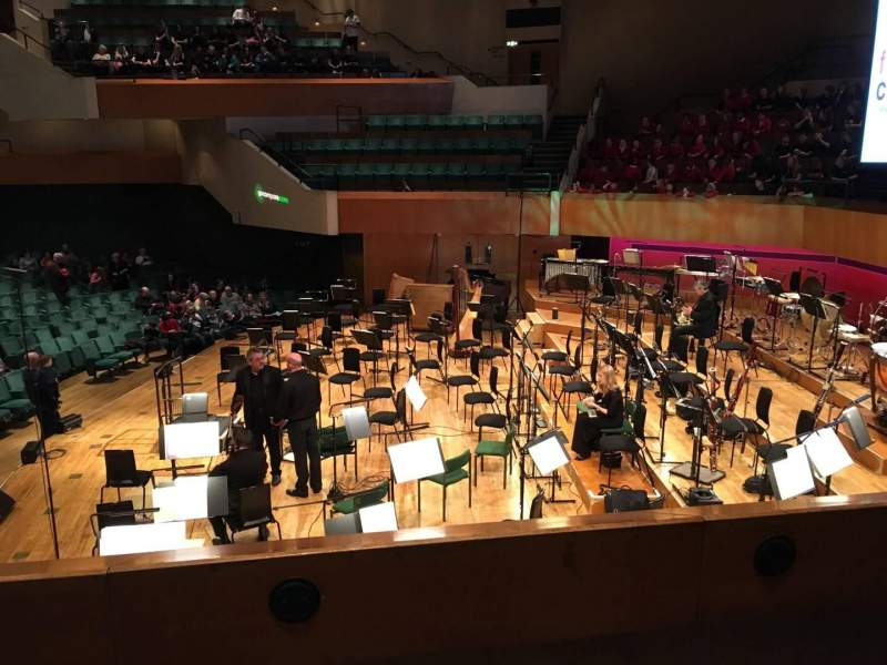 Seating view for St David's Hall Section Tier 6 Row B Seat 6