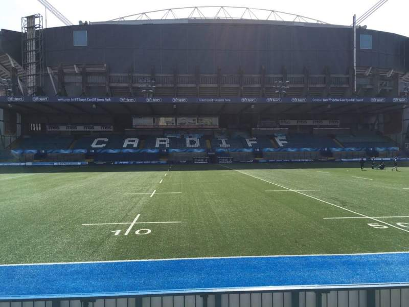 Seating view for Cardiff Arms Park Section Standing 13 Row 10