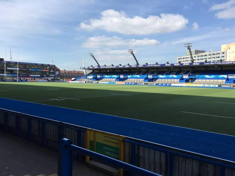 Seating view for Cardiff Arms Park Section Standing 1 Row 10
