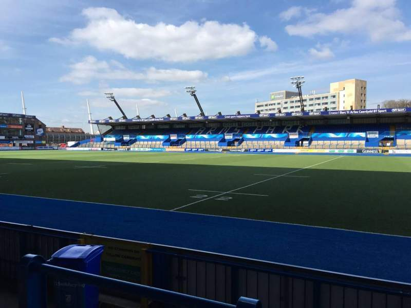Seating view for Cardiff Arms Park Section Standing 2 Row 10