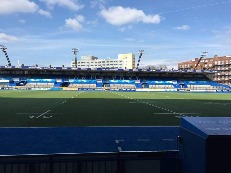 Seating view for Cardiff Arms Park Section Standing 4 Row 10
