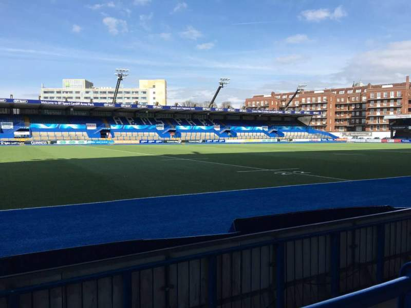 Seating view for Cardiff Arms Park Section Standing 5 Row 8
