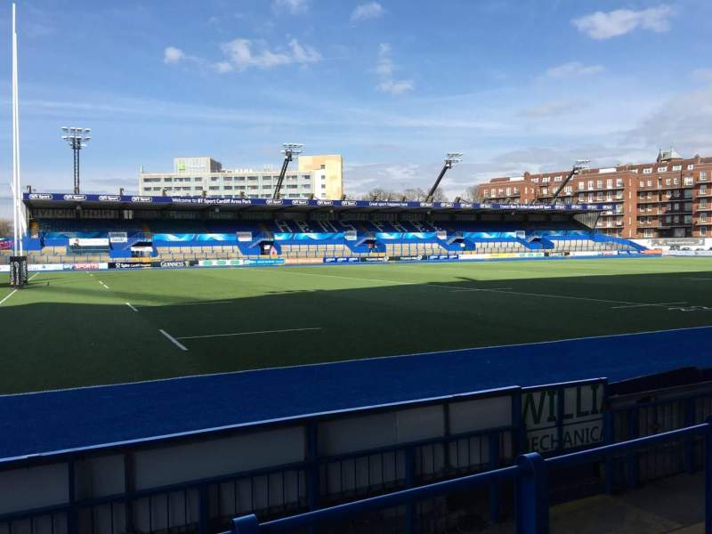 Seating view for Cardiff Arms Park Section Standing 5 Row 12