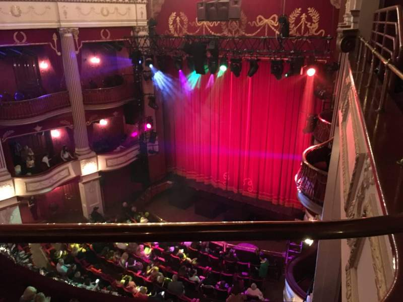 Seating view for New Theatre (Cardiff) Section Upper Circle Row A Seat 1