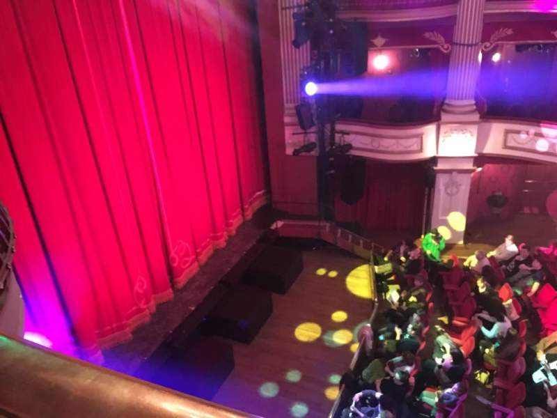 Seating view for New Theatre (Cardiff) Section Box E Row 1 Seat 4