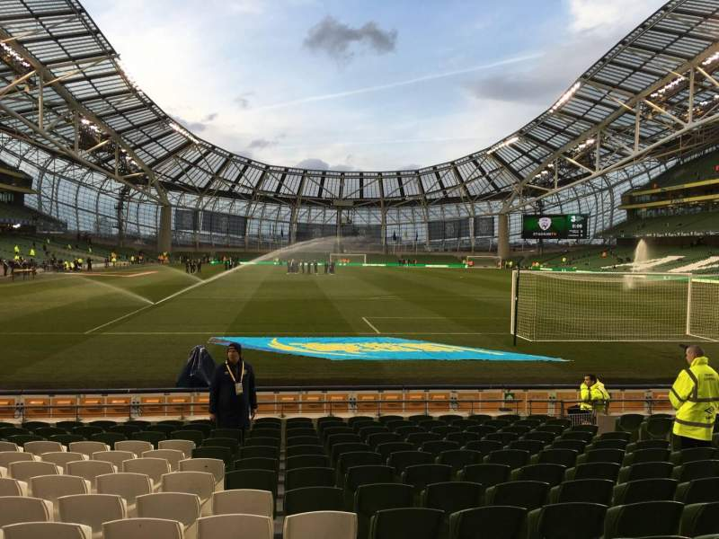 Seating view for Aviva Stadium Section 115 Row P Seat 23