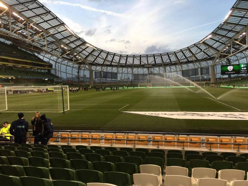 Seating view for Aviva Stadium Section 114 Row I Seat 3