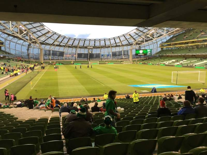 Seating view for Aviva Stadium Section 117 Row Ee Seat 3