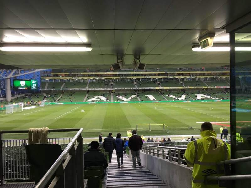 Seating view for Aviva Stadium Section 125 Row Bb