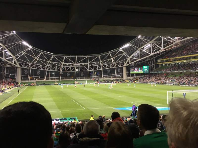 Seating view for Aviva Stadium Section 116 Row Ee Seat 23