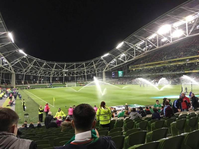 Seating view for Aviva Stadium Section 117 Row V Seat 20