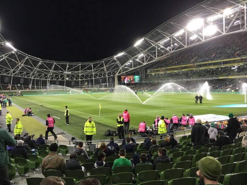Seating view for Aviva Stadium Section 118 Row Q Seat 10