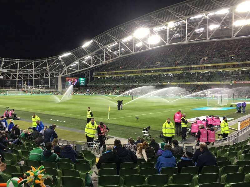 Seating view for Aviva Stadium Section 119 Row P Seat 23