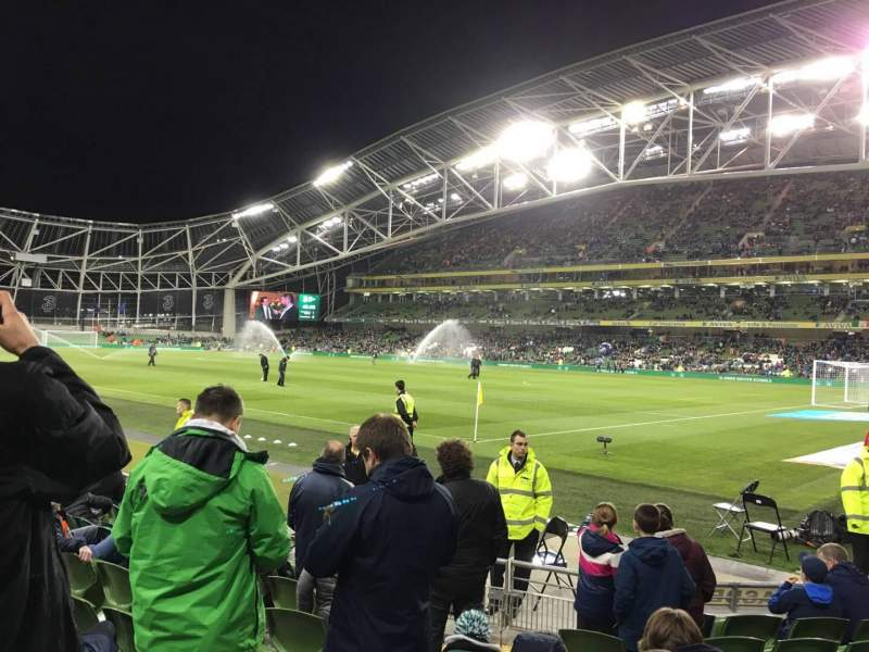 Seating view for Aviva Stadium Section 120 Row J Seat 13