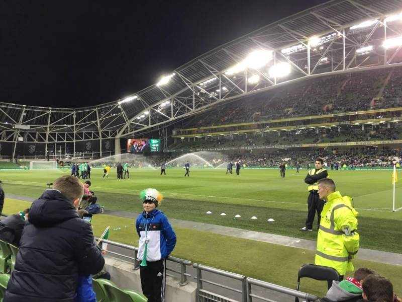 Seating view for Aviva Stadium Section 121 Row D Seat 12