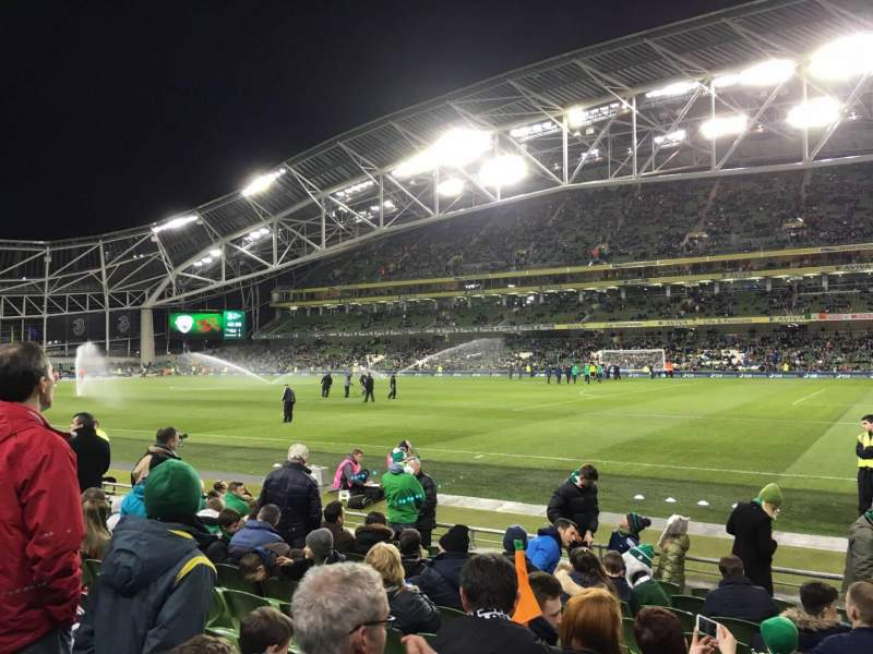 Seating view for Aviva Stadium Section 121 Row L Seat 16