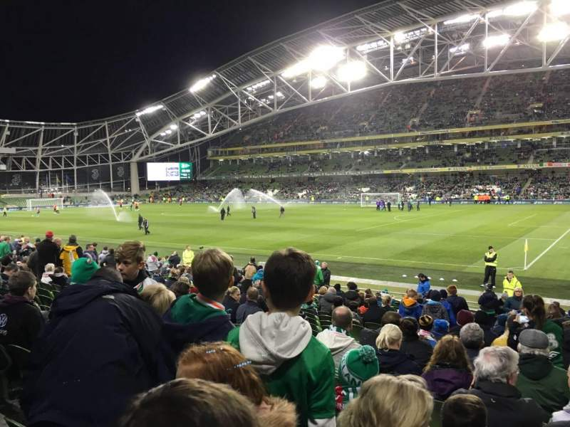 Seating view for Aviva Stadium Section 121 Row W Seat 10