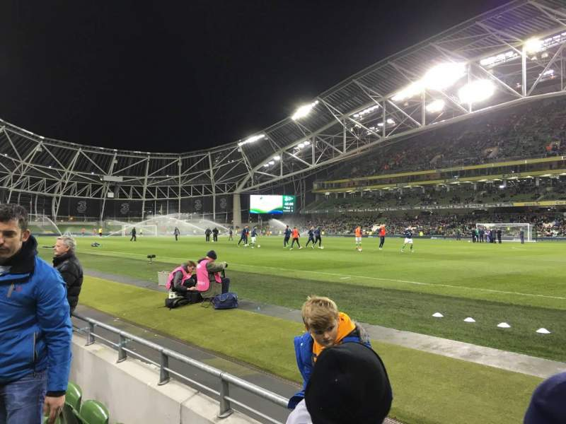 Seating view for Aviva Stadium Section 121 Row C Seat 15