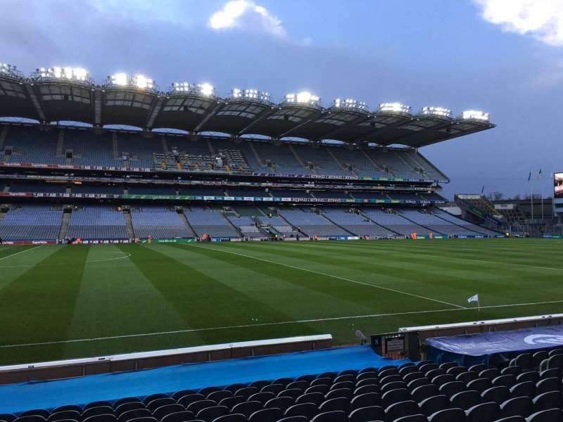 Seating view for Croke Park Section 309 Row P Seat 1