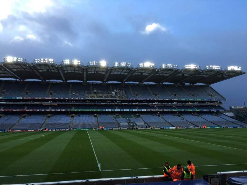 Seating view for Croke Park Section 308 Row Q Seat 1