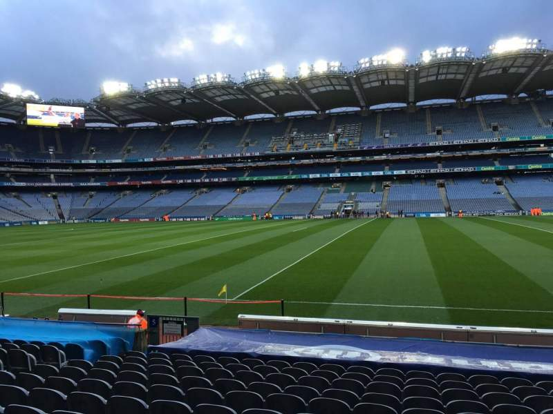Seating view for Croke Park Section 305 Row P Seat 3