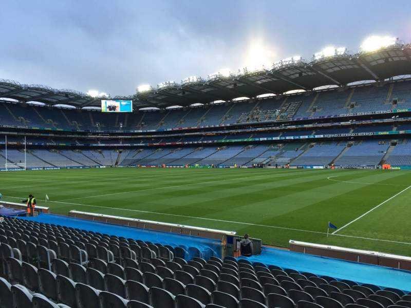 Seating view for Croke Park Section 302 Row P Seat 2