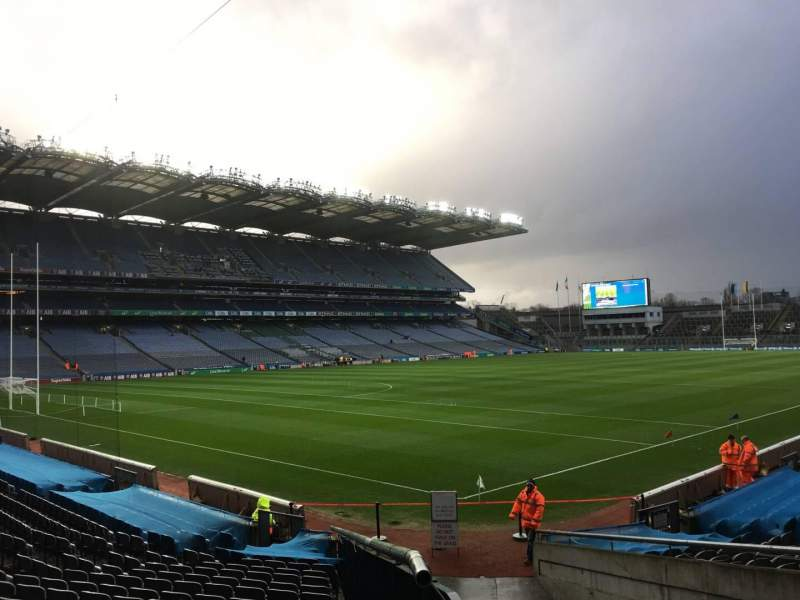 Seating view for Croke Park Section 313 Row U Seat 4