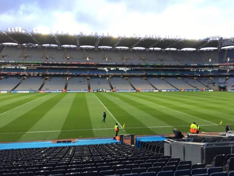 Seating view for Croke Park Section 332 Row Aa Seat 7