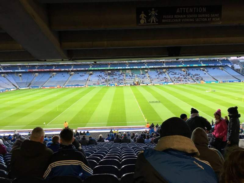 Seating view for Croke Park Section 406 Row We Seat 4