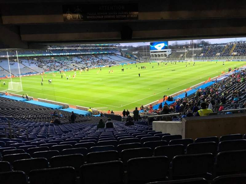 Seating view for Croke Park Section 413 Row Ww Seat 6