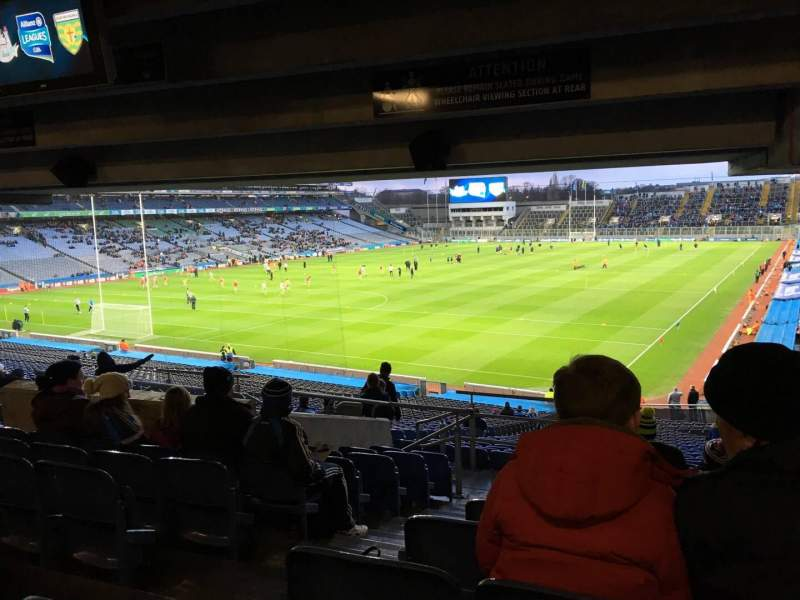 Seating view for Croke Park Section 415 Row Ww Seat 2