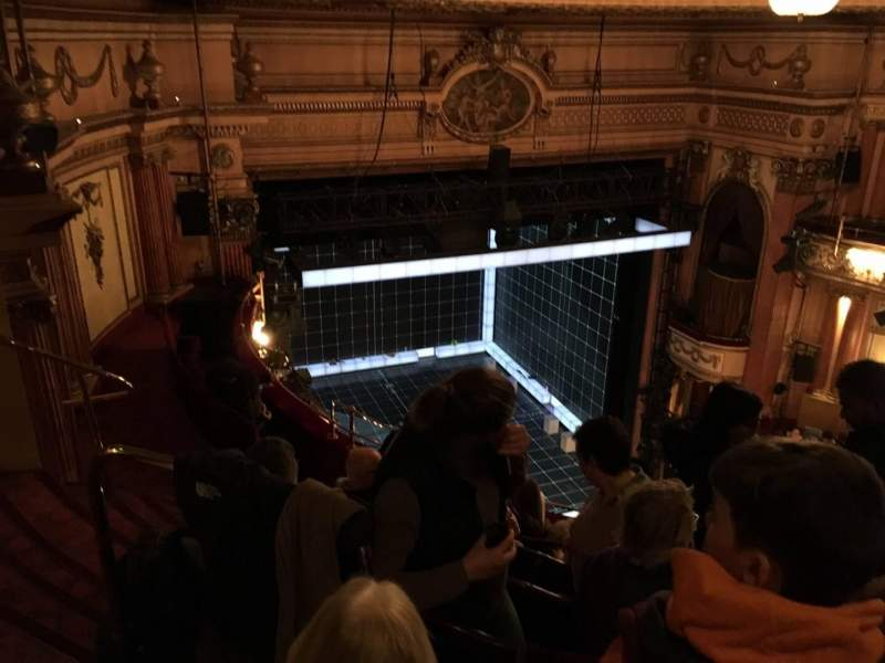 Seating view for Gielgud Theatre Section Grand Circle Row F Seat 26