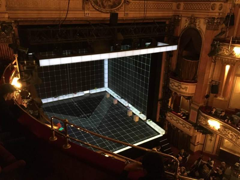 Seating view for Gielgud Theatre Section Grand Circle Row C Seat 28