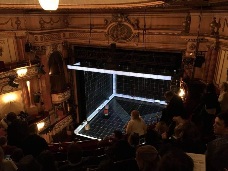 Seating view for Gielgud Theatre Section Grand Circle Row F Seat 2