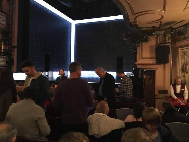Seating view for Gielgud Theatre Section Stalls Row M Seat 1